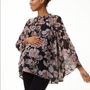 LOFT Maternity Floral Blouse, XS